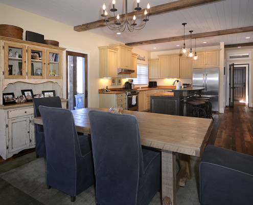 Custom Home Design Dining and Kitchen
